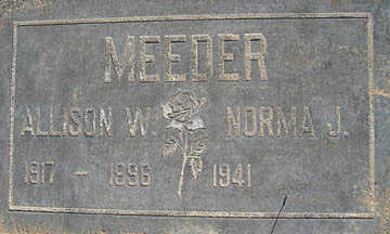 MEEDER, ALLISON W - Mohave County, Arizona   ALLISON W MEEDER - Arizona Gravestone Photos