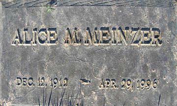 MEINZER, ALICE - Mohave County, Arizona | ALICE MEINZER - Arizona Gravestone Photos