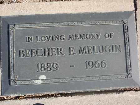 MELUGIN, BEECHER E - Mohave County, Arizona | BEECHER E MELUGIN - Arizona Gravestone Photos