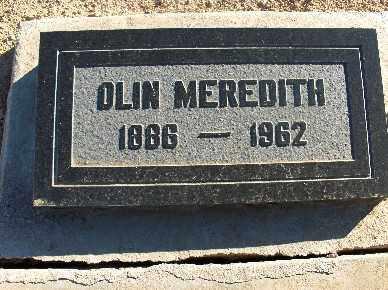 MEREDITH, OLIN - Mohave County, Arizona | OLIN MEREDITH - Arizona Gravestone Photos