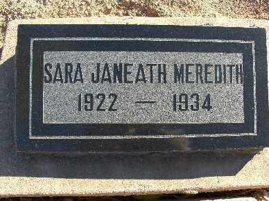 MEREDITH, SARA JANEATH - Mohave County, Arizona | SARA JANEATH MEREDITH - Arizona Gravestone Photos