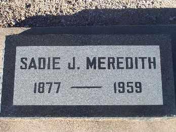 MEREDITH, SADIE J. - Mohave County, Arizona   SADIE J. MEREDITH - Arizona Gravestone Photos