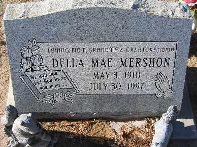 MERSHON, DELLA MAE - Mohave County, Arizona   DELLA MAE MERSHON - Arizona Gravestone Photos