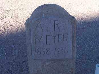 MEYER, A. R. - Mohave County, Arizona   A. R. MEYER - Arizona Gravestone Photos