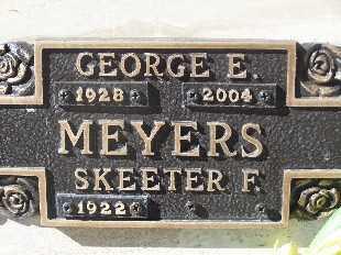 MEYERS, SKEETER F - Mohave County, Arizona | SKEETER F MEYERS - Arizona Gravestone Photos