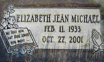 MICHAEL, ELIZABETH JEAN - Mohave County, Arizona | ELIZABETH JEAN MICHAEL - Arizona Gravestone Photos