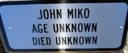 MIKO, JOHN - Mohave County, Arizona | JOHN MIKO - Arizona Gravestone Photos