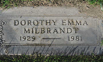MILBRANDT, DOROTHY EMMA - Mohave County, Arizona | DOROTHY EMMA MILBRANDT - Arizona Gravestone Photos