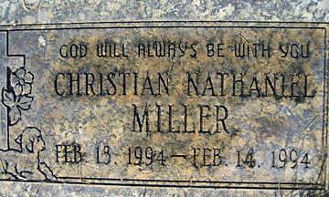 MILLER, CHRISTIAN NATHANIEL - Mohave County, Arizona | CHRISTIAN NATHANIEL MILLER - Arizona Gravestone Photos