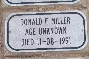 MILLER, DONALD E - Mohave County, Arizona | DONALD E MILLER - Arizona Gravestone Photos