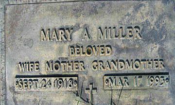 MILLER, MARY A - Mohave County, Arizona | MARY A MILLER - Arizona Gravestone Photos