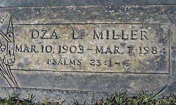 MILLER, OZA L - Mohave County, Arizona | OZA L MILLER - Arizona Gravestone Photos