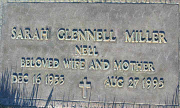 MILLER, SARAH GLENNELL - Mohave County, Arizona   SARAH GLENNELL MILLER - Arizona Gravestone Photos