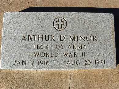 MINOR, ARTHUR D. - Mohave County, Arizona | ARTHUR D. MINOR - Arizona Gravestone Photos