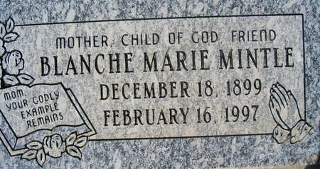MINTLE, BLANCHE MARIE - Mohave County, Arizona | BLANCHE MARIE MINTLE - Arizona Gravestone Photos