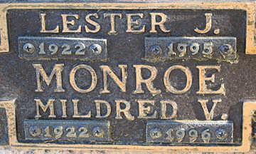 MONROE, LESTER J - Mohave County, Arizona | LESTER J MONROE - Arizona Gravestone Photos