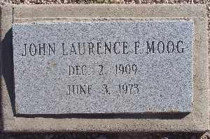 MOOG, JOHN LAURENCE F - Mohave County, Arizona | JOHN LAURENCE F MOOG - Arizona Gravestone Photos