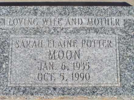 POTTER MOON, SARAH ELAINE - Mohave County, Arizona | SARAH ELAINE POTTER MOON - Arizona Gravestone Photos