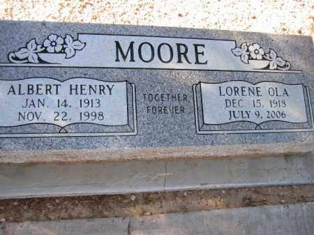 MOORE, LORENE OLA - Mohave County, Arizona | LORENE OLA MOORE - Arizona Gravestone Photos