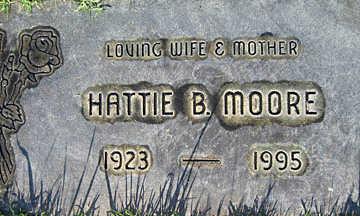 MOORE, HATTIE B - Mohave County, Arizona | HATTIE B MOORE - Arizona Gravestone Photos