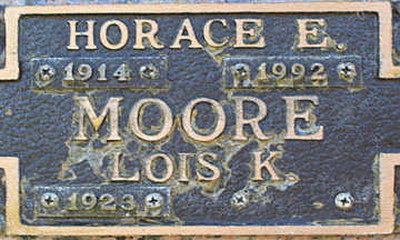 MOORE, HORACE E - Mohave County, Arizona | HORACE E MOORE - Arizona Gravestone Photos