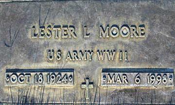 MOORE, LESTER L - Mohave County, Arizona | LESTER L MOORE - Arizona Gravestone Photos