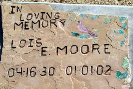 MOORE, LOIS E - Mohave County, Arizona   LOIS E MOORE - Arizona Gravestone Photos