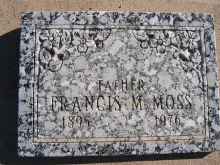 MOSS, FRANCIS M. - Mohave County, Arizona | FRANCIS M. MOSS - Arizona Gravestone Photos