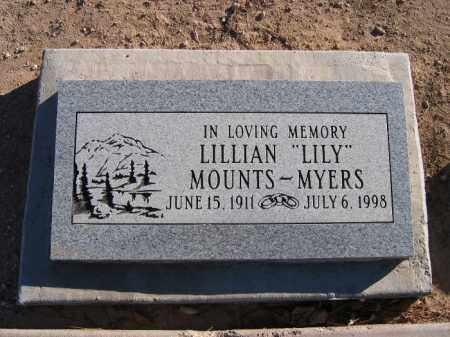 MOUNTS MYERS, LILLIAN - Mohave County, Arizona | LILLIAN MOUNTS MYERS - Arizona Gravestone Photos