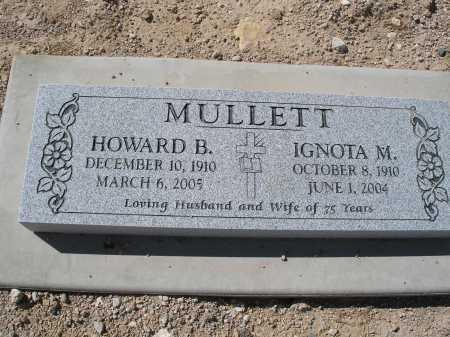 MULLETT, HOWARD B. - Mohave County, Arizona | HOWARD B. MULLETT - Arizona Gravestone Photos