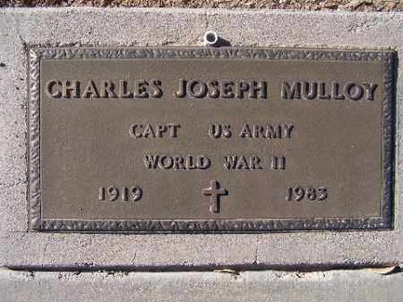 MULLOY, CHARLES JOSEPH - Mohave County, Arizona   CHARLES JOSEPH MULLOY - Arizona Gravestone Photos