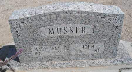 JONES MUSSER, MARY JANE - Mohave County, Arizona | MARY JANE JONES MUSSER - Arizona Gravestone Photos