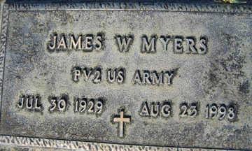 MYERS, JAMES W - Mohave County, Arizona   JAMES W MYERS - Arizona Gravestone Photos