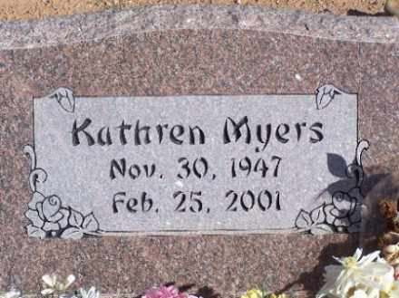 MYERS, KATHREN - Mohave County, Arizona   KATHREN MYERS - Arizona Gravestone Photos
