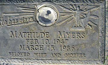 MYERS, MATHILDE - Mohave County, Arizona | MATHILDE MYERS - Arizona Gravestone Photos