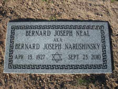 NEAL, BERNARD JOSEPH - Mohave County, Arizona | BERNARD JOSEPH NEAL - Arizona Gravestone Photos