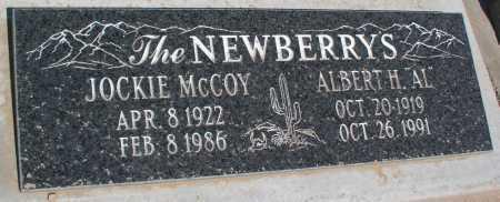NEWBERRY, ALBERT H. - Mohave County, Arizona | ALBERT H. NEWBERRY - Arizona Gravestone Photos