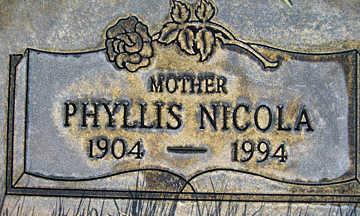 NICOLA, PHYLLIS - Mohave County, Arizona | PHYLLIS NICOLA - Arizona Gravestone Photos