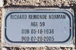 NORMAN, RICHARD REMONDE - Mohave County, Arizona | RICHARD REMONDE NORMAN - Arizona Gravestone Photos