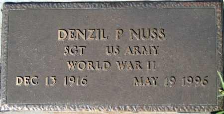 NUSS, DENZIL P - Mohave County, Arizona | DENZIL P NUSS - Arizona Gravestone Photos
