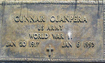 OJANPERA, GUNNAR - Mohave County, Arizona | GUNNAR OJANPERA - Arizona Gravestone Photos