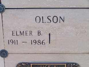 OLSON, ELMER B - Mohave County, Arizona | ELMER B OLSON - Arizona Gravestone Photos