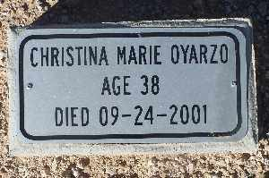 OYARZO, CHRISTINA MARIE - Mohave County, Arizona | CHRISTINA MARIE OYARZO - Arizona Gravestone Photos