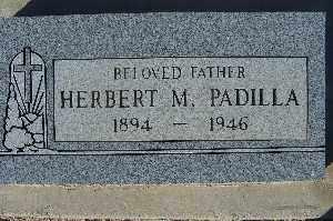 PADILLA, HERBERT M - Mohave County, Arizona | HERBERT M PADILLA - Arizona Gravestone Photos