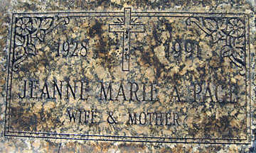 PAGE, JEANNE MARIE - Mohave County, Arizona | JEANNE MARIE PAGE - Arizona Gravestone Photos