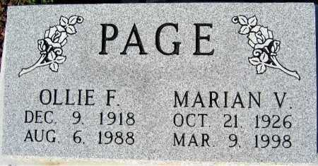 PAGE, OLLIE F - Mohave County, Arizona | OLLIE F PAGE - Arizona Gravestone Photos