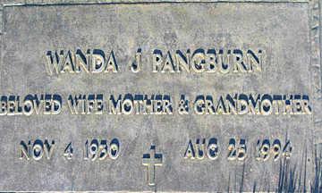 PANGBURN, WANDA - Mohave County, Arizona   WANDA PANGBURN - Arizona Gravestone Photos