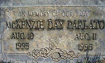 PARLATO, MCKENZIE D - Mohave County, Arizona   MCKENZIE D PARLATO - Arizona Gravestone Photos