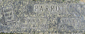 PARROTT, DON B - Mohave County, Arizona | DON B PARROTT - Arizona Gravestone Photos