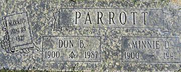 PARROTT, MINNIE D - Mohave County, Arizona | MINNIE D PARROTT - Arizona Gravestone Photos
